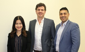 (L to R) DataXu's Fay Koo, Matthew Joyce & Michael Scaramozzino