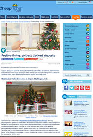 Cheapflights.com Festive flying: 10 best decked airports, best holiday decorated airports
