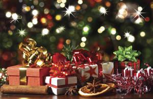 gift under tree