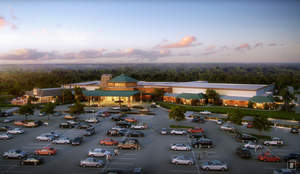 Rendering of Four Winds South Bend.  Courtesy of the Pokagon Band of Potawatomi Indians and its Four Winds Casinos.