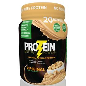 Protein Energy Power by Protein Plus,LLC.  A natural peanut protein powder drink.