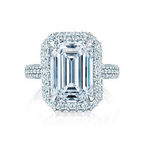 An emerald cut 7.01cts D flawless Canadian white diamond