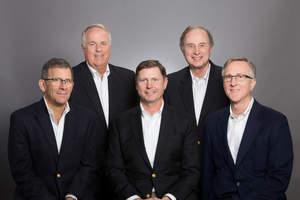 Pentallect, Inc. Founders: Bill Caskey (top left), Gary Karp (top right), Bob Goldin (bottom left), Rob Veidenheimer (middle) and Barry Friends (bottom right).