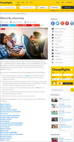 "Cheapflights.ca report on ""When to fly, when to buy"", best time to buy airline tickets"