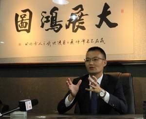 Mr. Quanzhong Lin during a TV interview