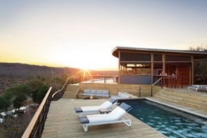 The private nature lodge within Kruger National Park accommodates eight guests