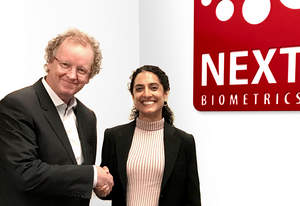 NEXT Biometrics appointed Ritu Favre, right, as its new CEO, succeeding Tore Etholm-Idsoe, left, who will continue to work as Chairman of the Board.  NEXT offers high quality area fingerprint sensors at a fraction of the prices of comparable competitors.