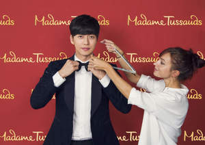 The Madame Tussauds sculpting team took measurements of Park Hae-jin