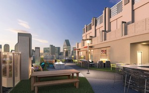 Rooftop amenities at Victory Place