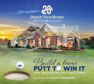 Design Tech Homes Build a Home, Putt to Win It new home buyer golf challenge promotion