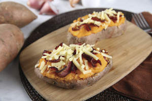 Twice-Baked Sweet and Savory Potatoes
