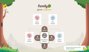 Family.me's tree builder is easy, interactive, and makes adding family members feel like playing a game.
