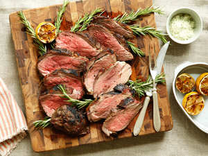 Grilled Butterflied Leg of Lamb with Rosemary Sea Salt