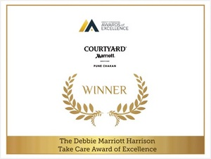 Courtyard by Marriott Pune Chakan earns Debbie Marriott Harrison TakeCare Award of Excellence