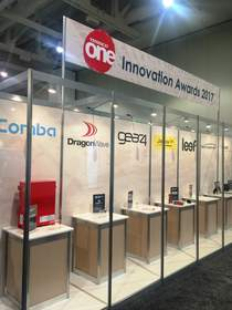 Award-winning CriticalPoint(TM) Public Safety BDA and the plaque are displayed at the TESSCO One Innovation Showcase and Conference 2017 as one of the highlights of the event