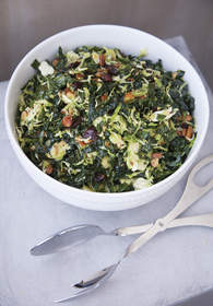 Shaved Brussels Sprouts and Kale Salad