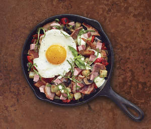 Leftover Ham and Bacon Hash