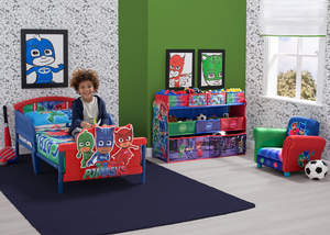 "Kids' furniture from Delta Children featuring characters from ""PJ Masks"""