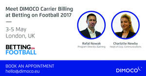 DIMOCO Carrier Billing at Betting on Football 2017