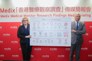 Ms. Sigal Atzmon, President (LEFT), and Professor David Zeltser, Global Medical Director (RIGHT) from Medix Medical Services Group attended the media briefing to share key survey resuls from Medix Medical Monitor Research.