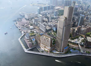 Artist rendering of Victoria Dockside in Tsim Sha Tsui