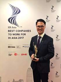 Mr. Wicky Cheng, Human Resources Director of FrieslandCampina Hong Kong, received the honor of 'HR Asia Best Companies to Work for in Asia 2017 (Hong Kong Chapter).'