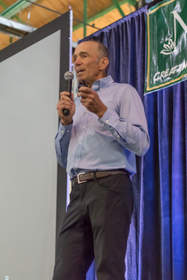 """Dr. Joseph Mercola keynote: """"Fat for Fuel: A Revolutionary Diet to Combat Cancer, Boost Brain Powers & Increase Your Energy."""" Photo credit: Thomas Mizzoni"""