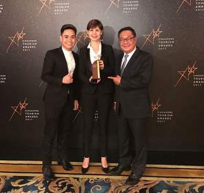 (From left to right: Mr Juan Paulo Rodriguez Salazar, assistant front office manager, Ms Christina Lee, Hotel Manager, Mr Arthur Kiong, Chief Executive Officer of Far East Hospitality)