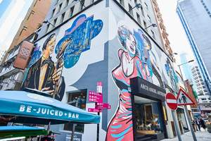 Hollywood Road, where upscale galleries meet street art.
