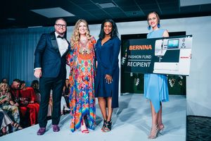 BERNINA recognized Nina Means as the BERNINA Fashion Fund Recipient during the Runway Event at Austin Fashion Week.