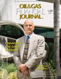 Financing the Davis Refinery, by Meridian Energy Group CEO William Prentice and Board Member Tom Skwarek.   Cover story, Oil & Gas Financial Journal, May 2017