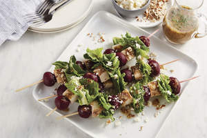 Ruby Beet Chicken Salad Skewers