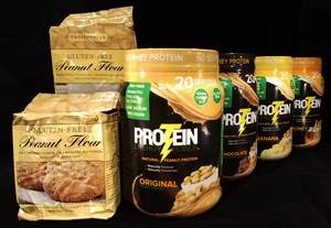 The complete line of Protein Plus products includes roasted peanut flour, peanut oil, and Protein Energy Power, a great tasting, peanut protein powder drink.