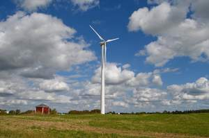 Miller Sonshine Acres Farm has two Northern Power Systems 100-kilowatt wind turbines in operation in Corfu, New York.