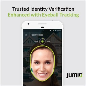 Jumio, eye tracking, eyeball tracking, biometrics