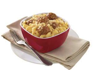 Cheesy Mac and Meatballs