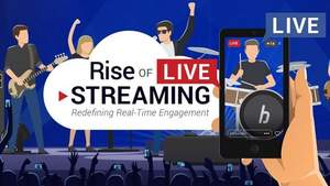 Rise of Live Streaming Infographic Header