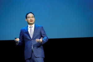 Zheng Yelai, President of Huawei's Cloud BU and President of the IT product line unveiled Huawei's innovative Enterprise Intelligence (EI) solution for the enterprise market.
