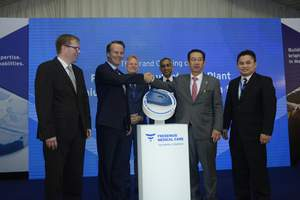 From left to right: Mr. Carsten Fischer, Chargés d'Affaires of the German Embassy, Mr. Harry De Wit, President and CEO, Fresenius Medical Care Asia Pacific, Mr. Gerhard Breith, Senior Vice President, GMQ Asia Pacific, Mr. Mahesh Nair, Senior Vice President, Fresenius Medical Care South Asia Pacific, YBhg. Dato' Seri Dr. Chen Chaw Min, Secretary General, Ministry of Health Malaysia, and Mr. Michael Wong, Managing Director, Fresenius Medical Care Malaysia