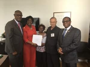 Mr. Dabney with Ambassador Chihombori  @2017 CFA, Ronald H. Brown Series, DC.