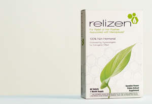 Relizen for hot flash relief