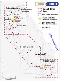 Figure 1. Caswell mine in under-explored Cobalt Central area