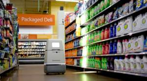 Bossa Nova robots scan store shelves and use AI to analyze the data and calculate the status of each product including location, price, and out-of-stocks.