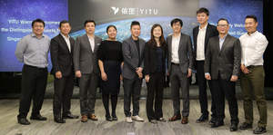 Discussion with Singapore officials at YITU's Shanghai headquarters