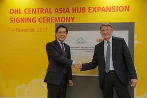 DHL today announced the EUR 335 million expansion plan for its Central Asia Hub in Hong Kong, in partnership with Airport Authority Hong Kong. Ken Allen, CEO of DHL Express (right) and Fred Lam, CEO of Airport Authority Hong Kong (left), signed an agreement at the DHL Central Asia Hub located at the Hong Kong International Airport.
