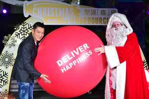 Asian well-known Star, Mr. Andy Lau, has attended the Christmas Lighting Ceremony of Harbour City shopping mall in Hong Kong.