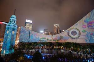 The winter version of Hong Kong Pulse Light Show