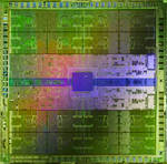 Die shot of Tesla Fermi Processor